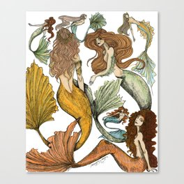Séquito de Sirenas Canvas Print