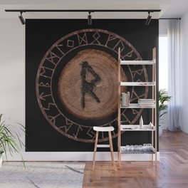 Raidho Elder Futhark Rune Travel, journey, vacation, relocation, evolution, change of place Wall Mural