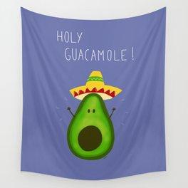 Holy Guacamole, avocado with sombrero Wall Tapestry