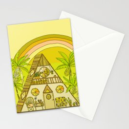 a frame simple living // banana pancakes // retro surf art by surfy birdy Stationery Cards