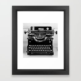 Vintage Typewriter Framed Art Print
