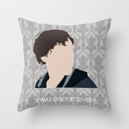 His Last Vow - Sherlock Holmes Throw Pillow