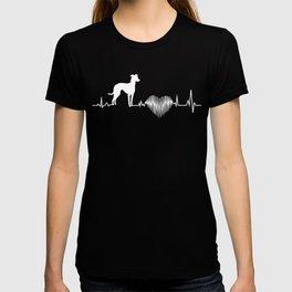 Italian Greyhound Heartbeat Funny Gift Dog Lover T-shirt