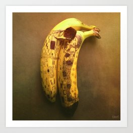 The Kiss (Banana Lovers)  Art Print