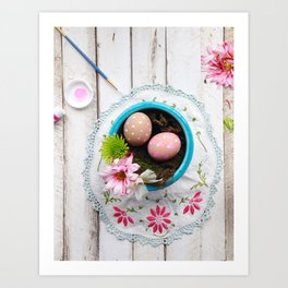 Painted Eggs  Art Print