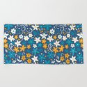 Floral pattern with doodles of flowers and leaves by katerinamitkova