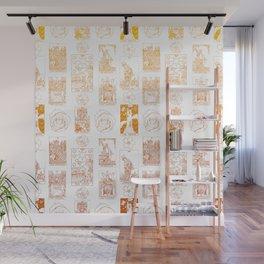 Beautiful Golden Tarot Card Print Wall Mural