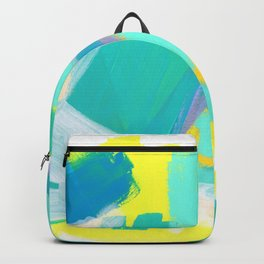 Be Kind, Be OK - mint modern mint abstract painting pastel colors Backpack