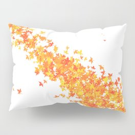 Maple Leaves on White Pillow Sham