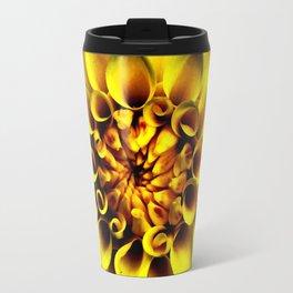 Yellow Mum On Black Travel Mug