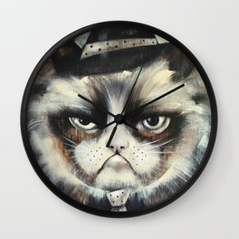 Mafioso Cat Wall Clock
