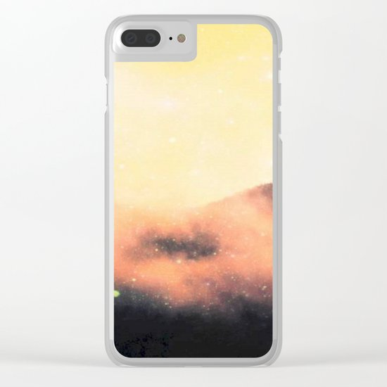 Cosmic landscape #stardust #society6 Clear iPhone Case