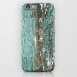 Waves on the Rocks iPhone Case