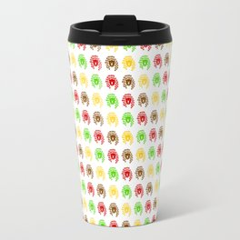 A pattern of colorful drawings of coffee bears. Travel Mug
