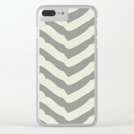 Chevron   Gray & Ivory Clear iPhone Case