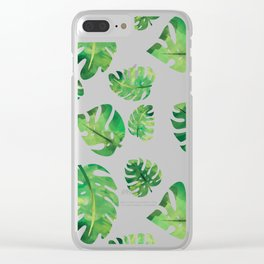 Monstera Plant Clear iPhone Case
