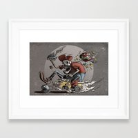mario kart Framed Art Prints featuring Death Kart by Calakka