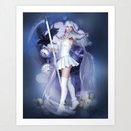 White scythe Art Print