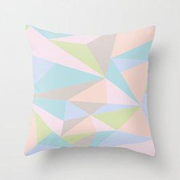 Pastel Triangles Throw Pillow