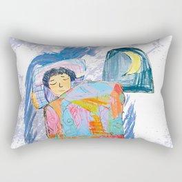 Sleeping and dreaming illustration, design for children Rectangular Pillow