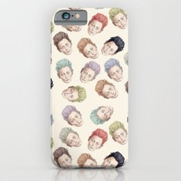 Heads on Cream | Hair Pattern iPhone Case