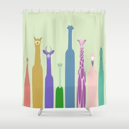 Long Neck Animals Shower Curtain