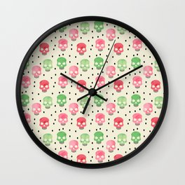 Skull-o-melon Wall Clock