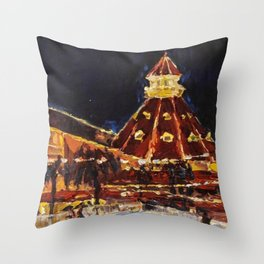 Hotel Del Coronado at Night Throw Pillow