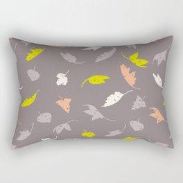 Purple Grunge Fall Leaves Rectangular Pillow