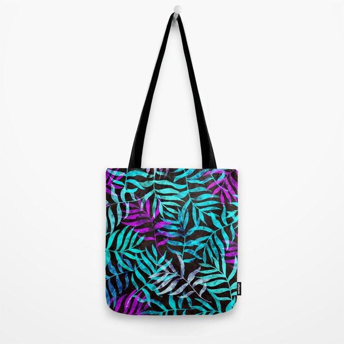 Watercolor Tropical Palm Leaves III Tote Bag