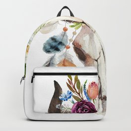 Dreamcatcher skull feathers & flowers Backpack