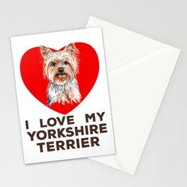 I Love My Yorkshire Terrier - Yorkie - Dog Stationery Cards