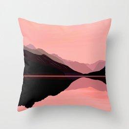 Blushing Lake Throw Pillow