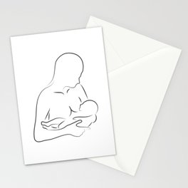 Mother Breastfeeding Silhouette Stationery Cards