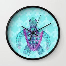 Tomas in Aqua Wall Clock