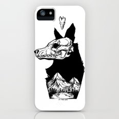 Black Wolf Mountain iPhone SE Slim Case