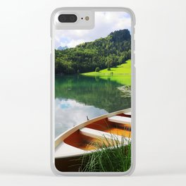 rowing boat on Alatsee Clear iPhone Case
