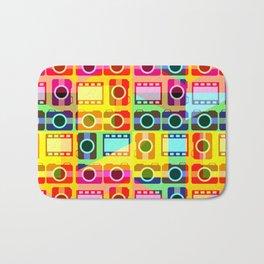 Colorful camera pattern Bath Mat
