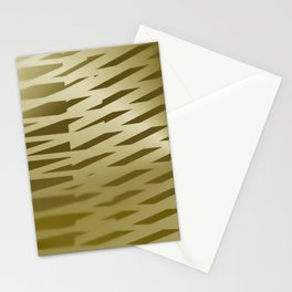 Sepia light stripes room Stationery Cards