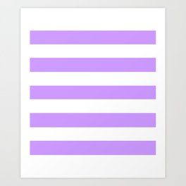 Pale violet - solid color - white stripes pattern Art Print