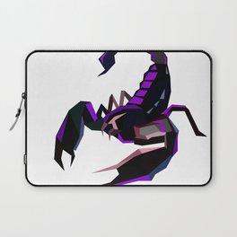 Scorpion geometric Animal  Zodiac sign Black and purple Laptop Sleeve