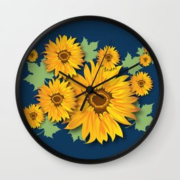 Summer Sunflower Wall Clock