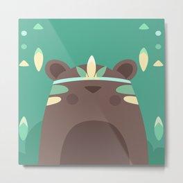 Native Bear Metal Print