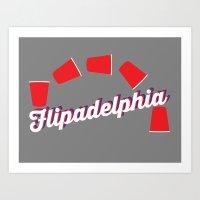 "always sunny Art Prints featuring It's Always Sunny ""Flipadelphia"" by Lindsay Schoen"