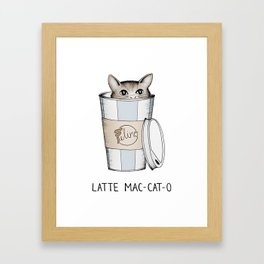 Latte Mac-cat-o Framed Art Print