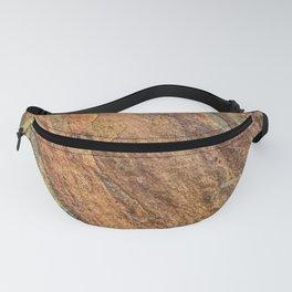 Rusty Latte // Orange Redish Stone Diagonal Texture Autumn Color Profile Fanny Pack