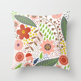 Fabulous spring flowers Throw Pillow