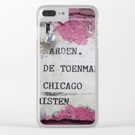 Urban poetry Clear iPhone Case