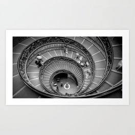 Down the spiral staircase Art Print