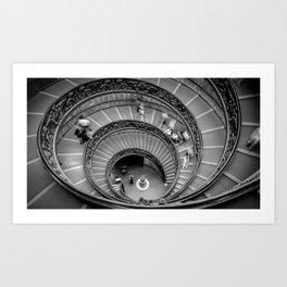 Down the spiral staircase Art Print